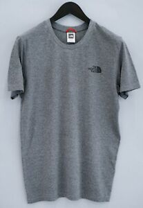 Hommes The North Face T-Shirt Gris Coton Mélange Ras Cou S VCA238