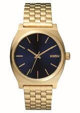 Nixon Time Teller All Light Gold Cobalt Blue A0451931 Mens Analog Watch
