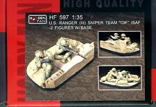 "Hobby Fan 1/35 HF-597 US Ranger (III) Sniper Team ""OLF"" ISAF - 2 Figures w/Base"