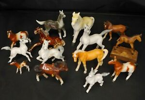 Vintage Porcelain Small Horse Figurine Estate Lot of 14 - Japan, W. Germany