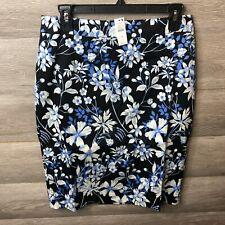 Talbots Womens Size 8 Black Multi Garden Pencil Skirt NEW