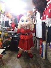 Miss Piggy Christmas Mascot Costume The Muppets Show Party Character Halloween