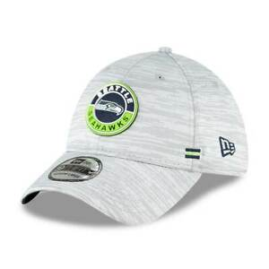 Seattle Seahawks NFL Player Sideline On Field 39THIRTY Hat Cap Grey Stretch Mens