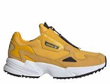 ADIDAS FALCON ZIP EE5113 Freizeitschuhe Sneaker Sportschuhe Damen Gelb Echtleder