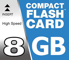 8 GB Compact Flash Carte CF pour Canon EOS 400D