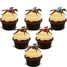 18 HORSE RACING STAND UP Edible RICE Wafer Cake Toppers D1 GRAND NATIONAL ASCOT