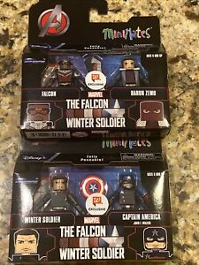 Walgreens Exclusive The Falcon & Winter Soldier Minimates Lot of 2