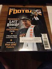 April 2016 Beckett Football Magazine Peyton Manning Denver Broncos On Cover