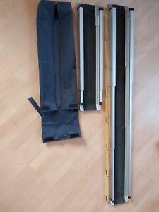 Teleskoprampen  2 Stück Alu Rollstuhlrampe Rampe Rollrampe Auffahrschienen 142cm