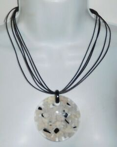 Sobral Classicos Mila Cacos Marbled Lagrima Mix Artist Made Pendant Necklace