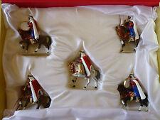 FIGURINES LG PAR LUCOTTE / MUSIQUE A CHEVAL DES SPAHIS ALGERIENS ( 5 CAVALIERS )