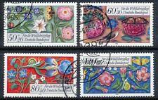Bundespost 1259 - 1262 gestempeld motief bloemen