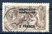 BRITISH MOROCCO FRENCH BUREAU Yvert # 10 Used VF