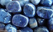 DUMORTIERITE (PAZIENZA) - Minerali Burattati Cristalloterapia - CIONDOLO PIETRA