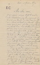 Etienne CARJAT  Lettre autographe signée à Arthur Arnould. 1870