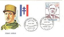 TIMBRE TAAF OBLITERATION 1 er JOUR SUR LETTRE 1980 GENERAL DE GAULLE