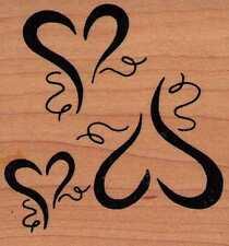 Motivstempel  rubber stamp Great Impressions 3 fliegende Herzen Liebe Muttertag