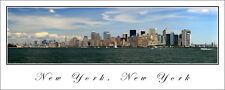 City Skyline Poster New York Panoramic Fine Art Print View From Liberty Island