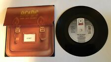 """VERY RARE 7"""" 45 GIRI 1995 AC/DC ARE YOU READY NUMBERED SCHOOLBAG COVER UK NM"""