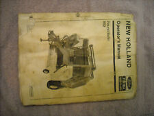 Ford New Holland operators manual for 852 round baler