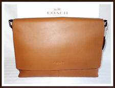 Coach Leather Charles Briefcase Laptop Messenger Bag SADDLE BROWN NWT NEW  2017