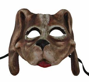 Maschera Di Venezia Cane Fatto a Mano IN Carta Cartapesta Costume Lusso 1700 V46