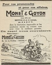 Y8293 Motos MONET & GOYON - Pubblicità d'epoca - 1927 Old advertising