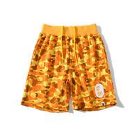 Men's A Bathing Ape Bape PUBG Yellow Camo Loose Casual Sports Short Pants Shorts