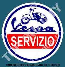 SCOOTER VESPA SERVIZIO DECAL STICKER SUIT VESPA MOPED LAMBRETTA MOD ROCKER RIDE