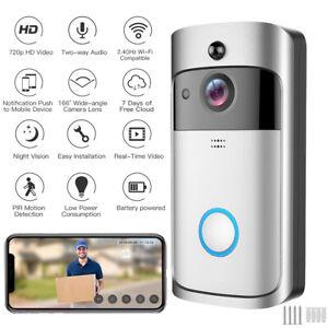 Wireless WiFi Video Doorbell Smart Phone Camera Door Bell Ring Intercom Security