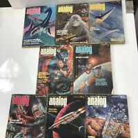 Analog Science Fiction Magazine Lot of 8 Issues 1970s 1975 1976 Pulp Sci Fi