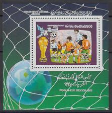 XG-T123 LIBYA - Football, 1986 Mexico '86 World Cup MNH Sheet