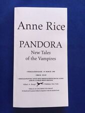 PANDORA - UNCORRECTED PROOF BY ANNE RICE