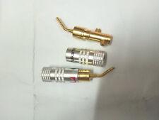 20pcs 24K Gold Speaker Pin Angel 2mm Nakamichi Plug Speaker wire Screw Lock