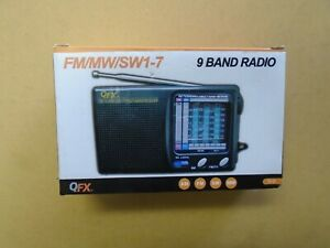 QFX 9 Band Radio FM/MW/SW1-7, New In Open Box, Tested and Working