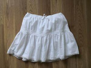 Girls White Mini Skirt - Age 10-12 years