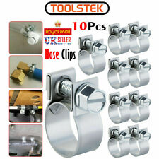 10 x Mini Fuel Line Jubilee Hose Clips Clamp Diesel Petrol Pipe Coolant Radiator