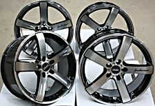 """19"""" ALLOY WHEELS CRUIZE BLADE BP BLACK POLISHED FACE CONCAVE 19 INCH ALLOYS"""