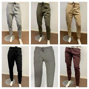 FOX Mens Basic Fleece Track Pants Trackies Trackpants - SLIM FIT