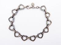 Vintage Sterling Silver Love Heart Bracelet