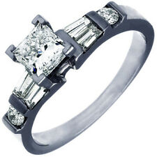 Unique design GIA certified 1.80 Carat Princess cut Diamond Engagement Ring 18K