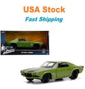 "Fast And Furious Dom's 1973 Chevrolet Camaro F-Bomb JADA Diecast Car 5"" 1:32 NIB"