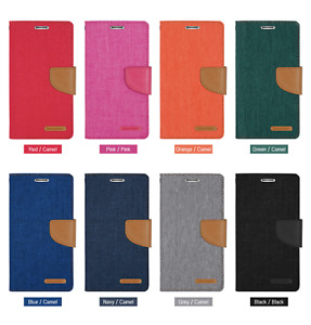 Goospery Canvas Diary Wallet for Samsung, Sony & Huawei - FAST SHIPPING