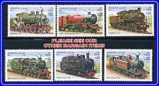 AFGHANISTAN 2001 TRAINS / LOCOMOTIVES MNH STEAM ENGINES