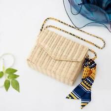 Women Woven Bag Retro Style Beach Bohemia Crossbody Messenger Rattan Hand Straw