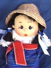 Chinese Girl, Classic Straw Worker's Hat, 11-1/2 in.Tall, Nice!