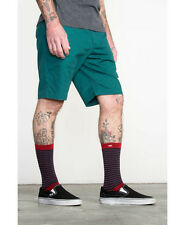 NWT RVCA SHORTS SIZE 32 THE WEEK-END STRETCH SHORT GREEN CHINO CITY SKATE