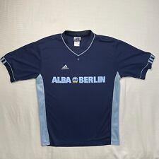 Adidas Mens S Blue Short Sleeve T Shirt Alba Berlin Germany Basketball Jersey