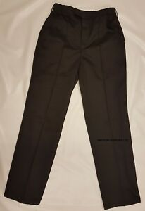 Ex Police Trousers Work, Security Trousers, Doorman Black Adjustable Size (rail)