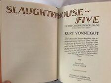 Signed !ST full leather FRANKLIN Vonnegut SLAUGHTERHOUSE-FIVE very fine